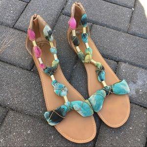 Cynthia rowley rainbow gladiator sandals